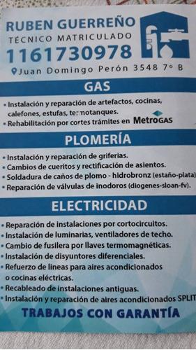 plomero - gasista. instalaciones- reparaciones