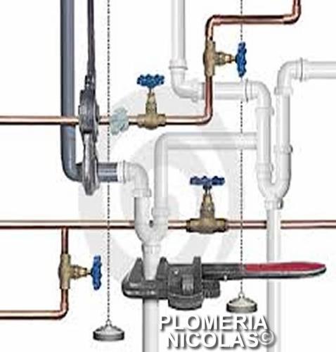 plomero gasista matriculado 24hs  instalaciones financiadas