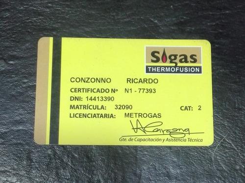 plomero-gasista matriculado tarifas accesibles. zona sur