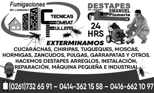 plomeros en maracaibo plomeria y fumigaciones,04166621097.