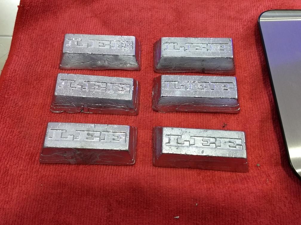 Plomo En Lingotes De ½ Libra Precio Por Kilo 8600 En Mercado