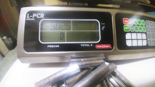 plomo para atarraya abierto de 2 plg. paquete de 5 kilos