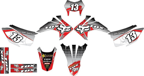 plotagem adesivo grafico moto nova crf 230 2015