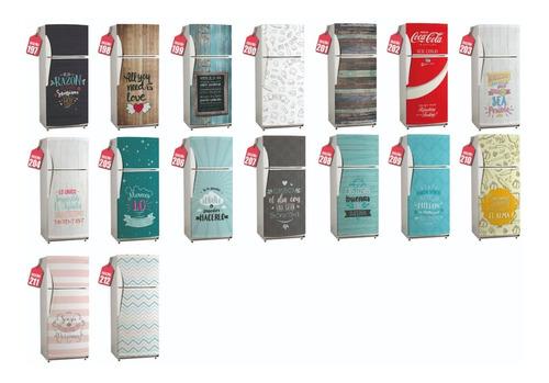 ploteo heladera vinilo decorativo - vinilos personalizados