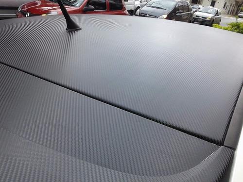 ploteo techo simil vidrio negro mate fibra carbono