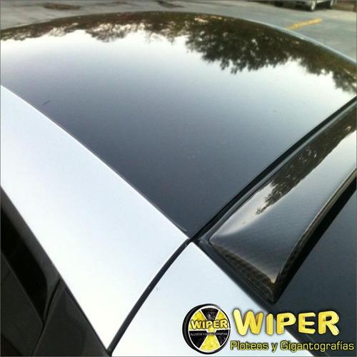 ploteo vinilo simil vidrio auto techo autoadhesivo importado