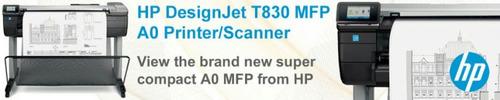 ploter hp t830 multifuncional de 36  de ancho, 4 cartuchos