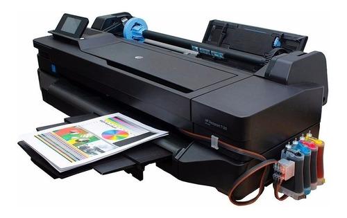 plotter a1- a4 hp designjet t130 +sistema de tinta opcional
