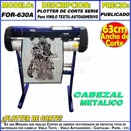 plotter corte industrial metal corel moritzu for-630a vinilo