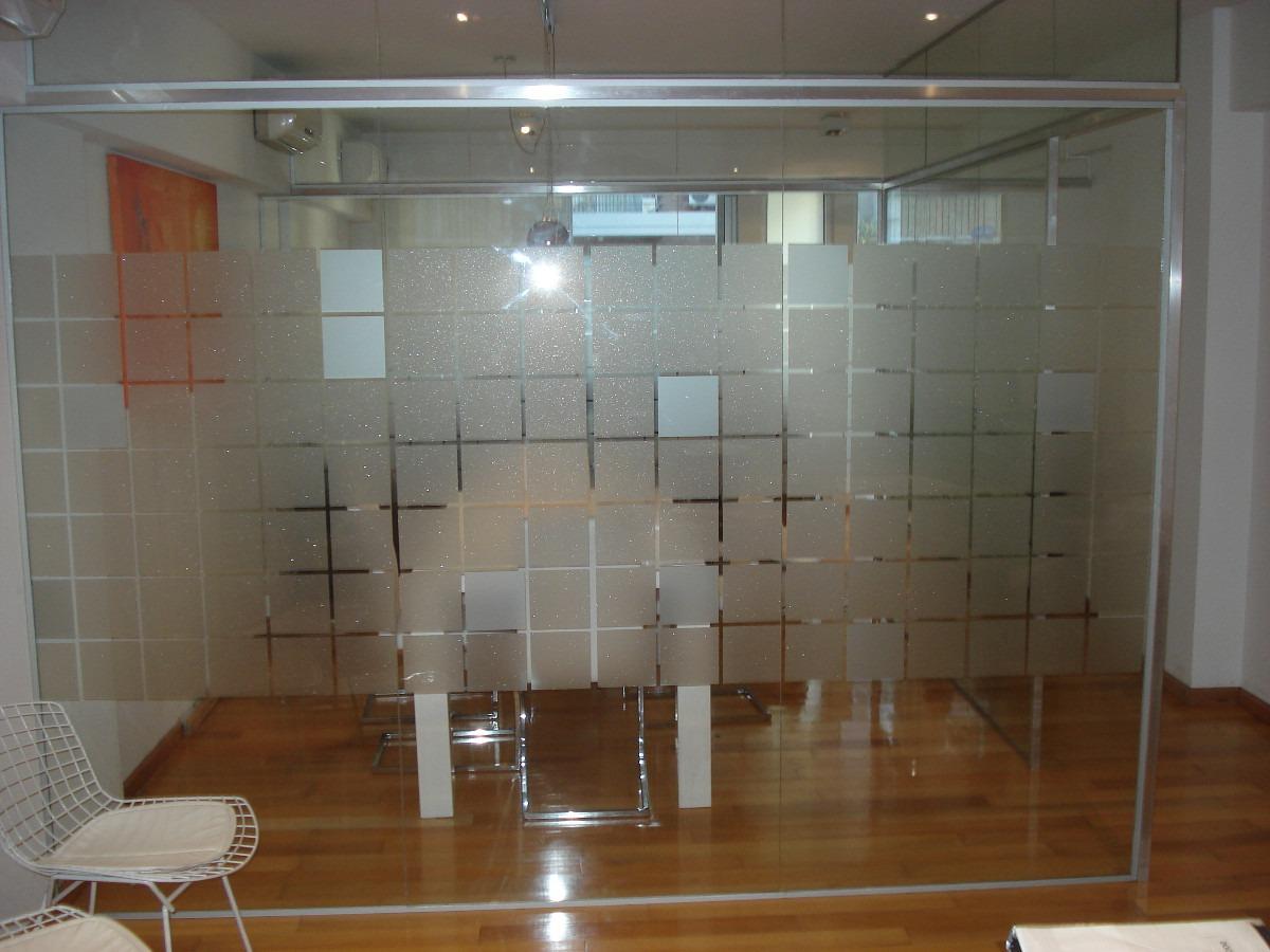 Plotter esmerilado oficinas gigantografias vinilo corte for Vinilo para vidrio