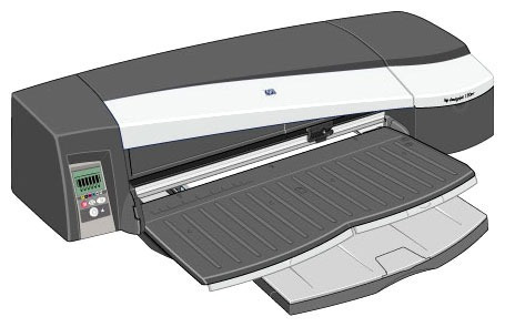 plotter hp designjet 130nr 24  charola rollo reacondicionado
