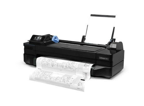 plotter hp designjet t120 24' wifi s/ portarrollos  pc mac
