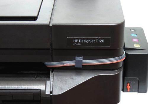 plotter hp designjet t120 con sistema continuo