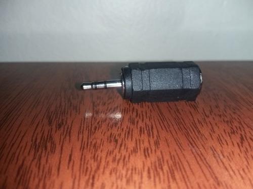 plug 2.5 stereo a 3.5 stereo jack adatptador 1 par