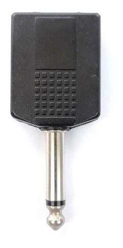 plug adaptador 2 p10-fêmea 1 p10-macho mono