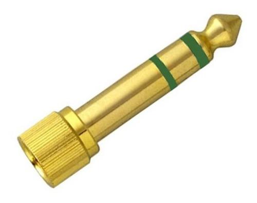 plug adaptador p2 para p10 com rosca p/ fones sony e outros