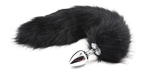 plug anal metal cola de zorro gay mujer sexo+ mini vibrador