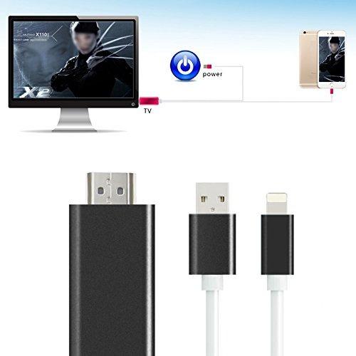 plug and play cable adaptador hdmi para iphone, conector con