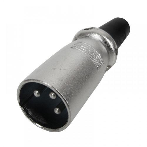 plug cannon macho linha com prensa ( pacote c/ 3 pçs )