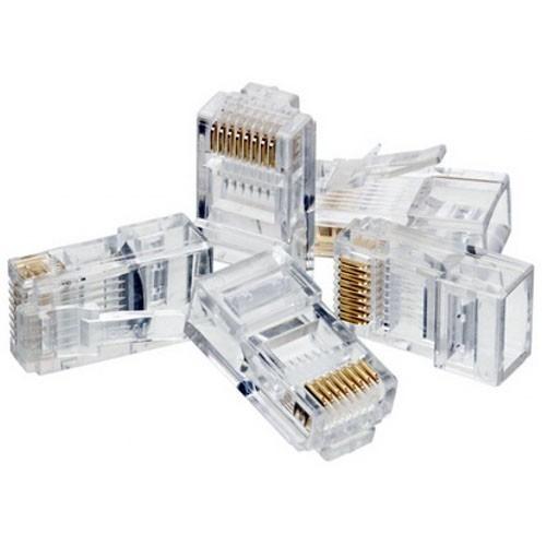 plug conector para cable de red utp rj45 cat5e cat 5e 100pzs