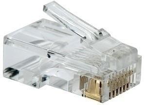 plug conector rj45 para cable red utp cat 5e 100 piezas