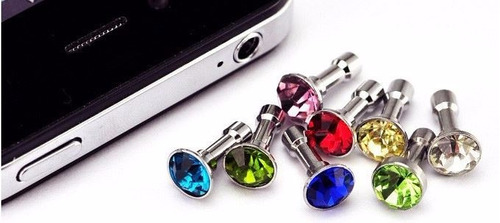 plug decorativo celular s4 s5 s6 iphone 3 unidades