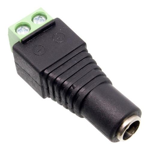 plug hembra bornera conector camara de seguridad fuente