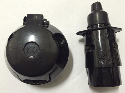 plug (macho) e tomada para carretinha, carreta, reboque kg