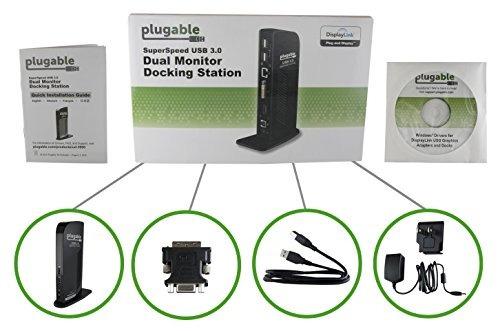 plugable usb 3.0 universal laptop docking station para windo