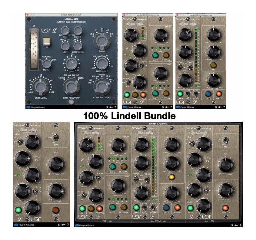 Plugin Alliance 100 Lindell Bundle Win/mac - Envio Imediato