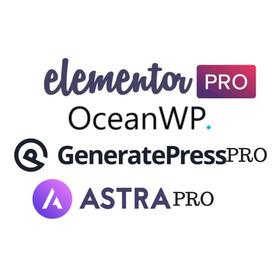 Plugin Elementor Pro + Oceanwp + Astra Pro + Generatepress