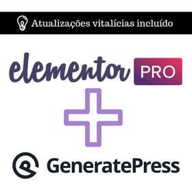 Plugin Elementor Pro #original# + Generatepress - Envio Já!