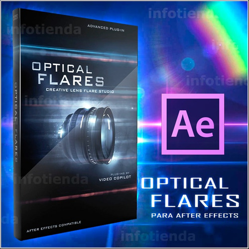 plugin optical flares para after effects ( motion graphics )