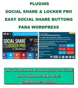 Plugins Social Share & Locker Pro + Easy Share Buttons