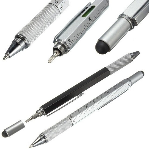pluma 4 en 1 herramienta cruz plano stylus touch medidor niv
