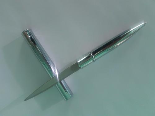 pluma boligrafo ejecutivo con cuchillo navaja