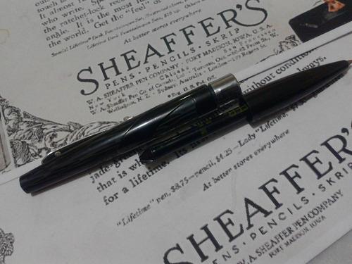 pluma boligrafo sheaffer intrigue modelo 614 laca y resina