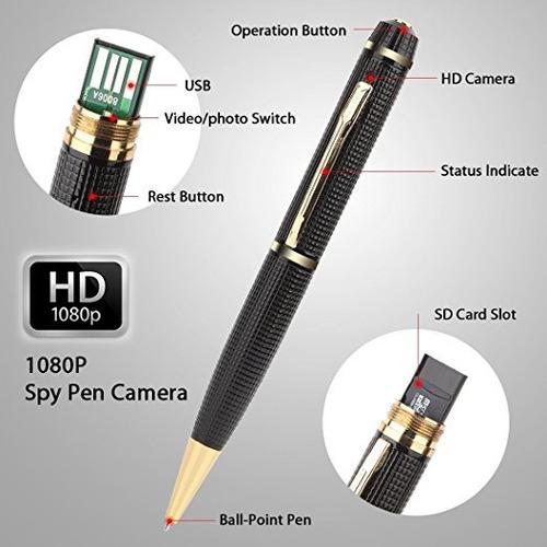 pluma camara espia