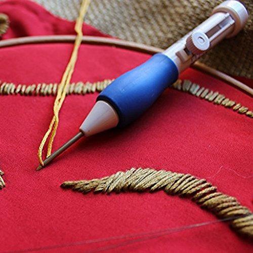 pluma de bordado magico ganchillo kit de