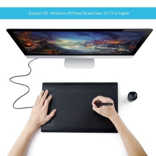 pluma de huion 1060 plus usb gráfico dibujo tableta 12