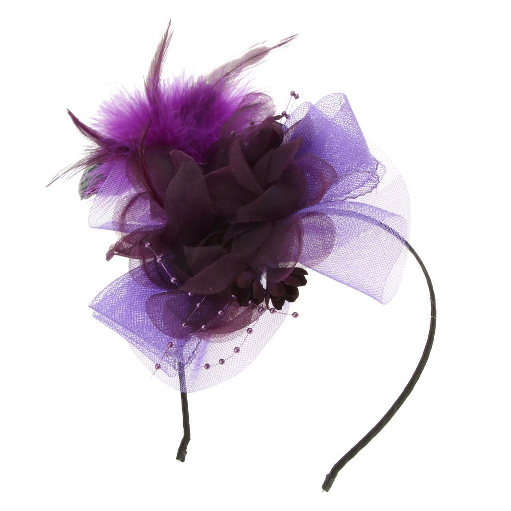 cc00829961b pluma de la vendimia fascinator diadema derby sombrero cela. Cargando zoom.