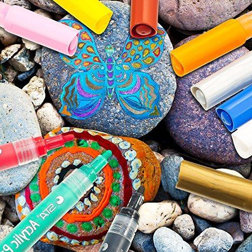 pluma de marcadores de pintura acrílica, toodoo arte plumas