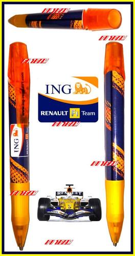 pluma del renault f1 team mercancia autentica f1 boligrafo