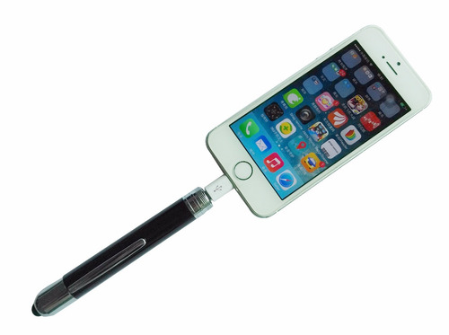 pluma ejecutiva con power bank y stylus para iphone android