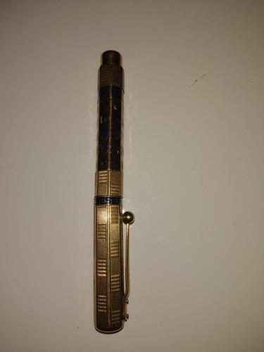 pluma enchapado en oro, pluma oro 14k con calendario