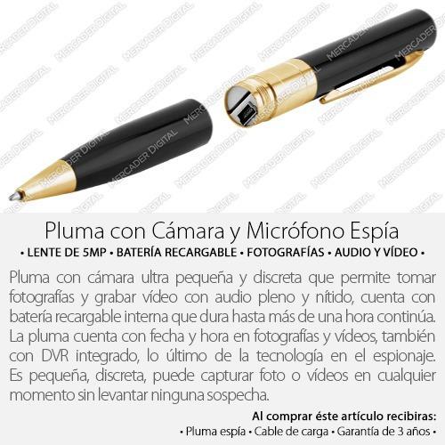 pluma espía cámara audio vídeo