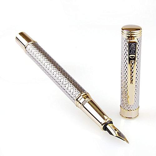pluma estilográfica dorada del cocodrilo
