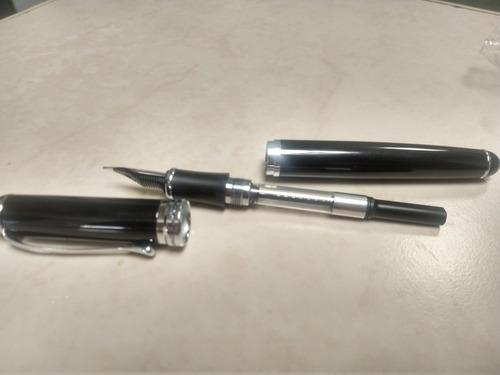 pluma fuente jinhao x750 negro brillante