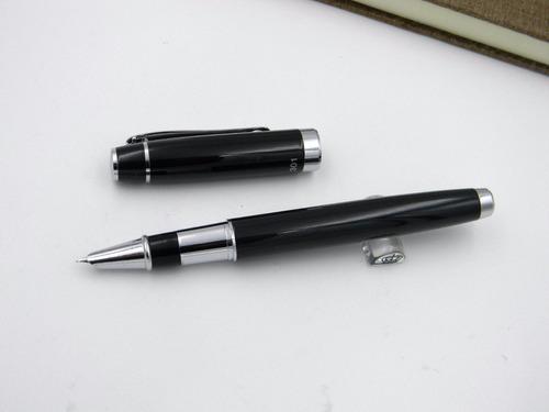 pluma fuente marca hero 301 negra con convertidor de tinta