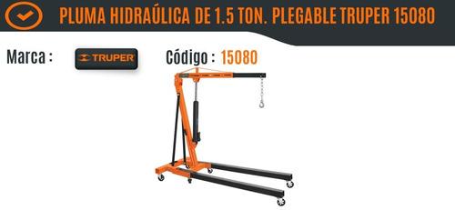 pluma hidraúlica plegable / 1.5 toneladas truper 15080